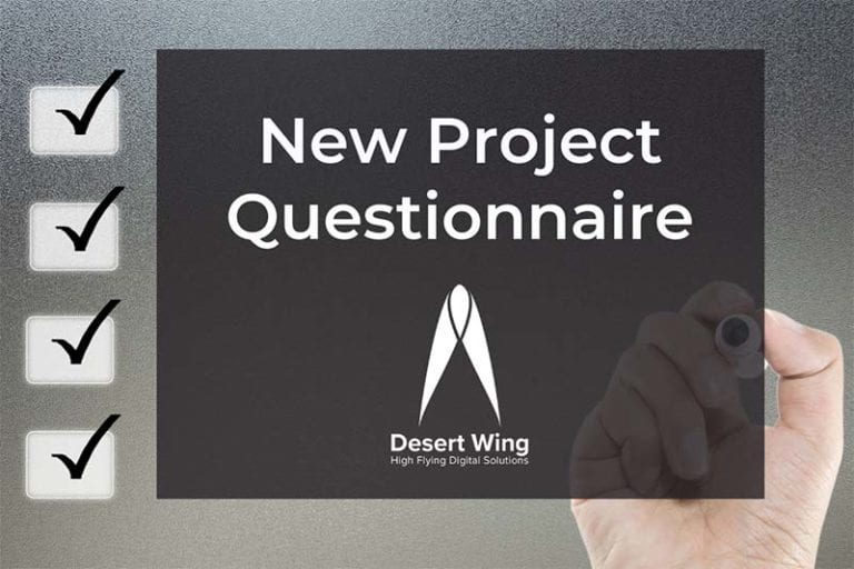New Project Questionnaire Featured Image Desert Wing Design